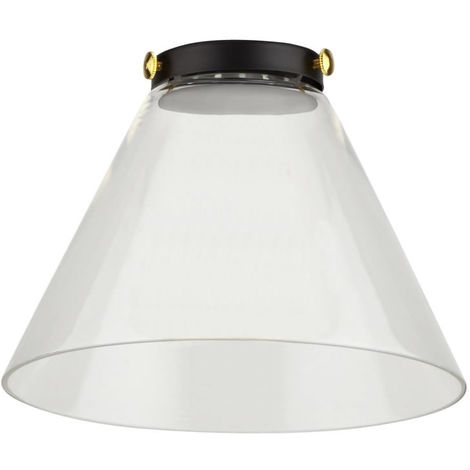 Biard Shoreditch Designer Cone Shaped Clear Glass Light Shade For Ceiling Pendant Light Fixture