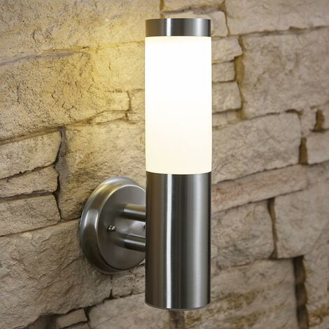 Biard Stainless Steel Solar Powed LED Outdoor Wall Up Light IP44 Weatherproof