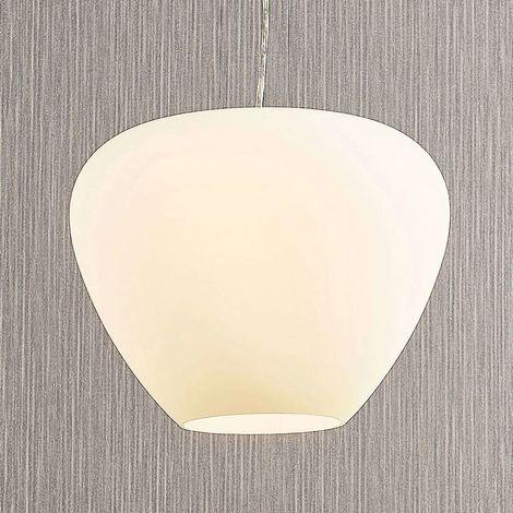 Bibiane glass pendant lamp, opal white