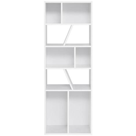 Biblioteca moderna blanca 60 cm AZTEQUE