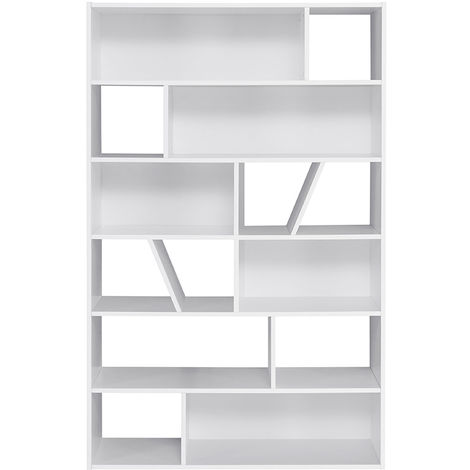 Biblioteca moderna blanca AZTEQUE