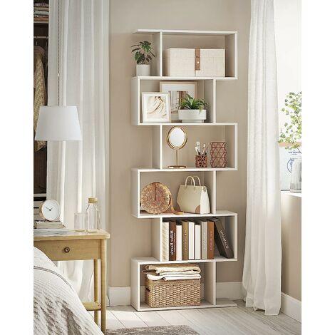 Bleu et blanc GKR73WB SONGMICS Biblioth/èque enfant avec pieds en bois massif et kit anti-basculement pour chambre d/'enfant /Étag/ère de rangement pour jouets /à 3 niveaux salle de jeux