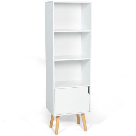 """main image of """"Bibliothèque étagère EMMIE scandinave bois blanc"""""""