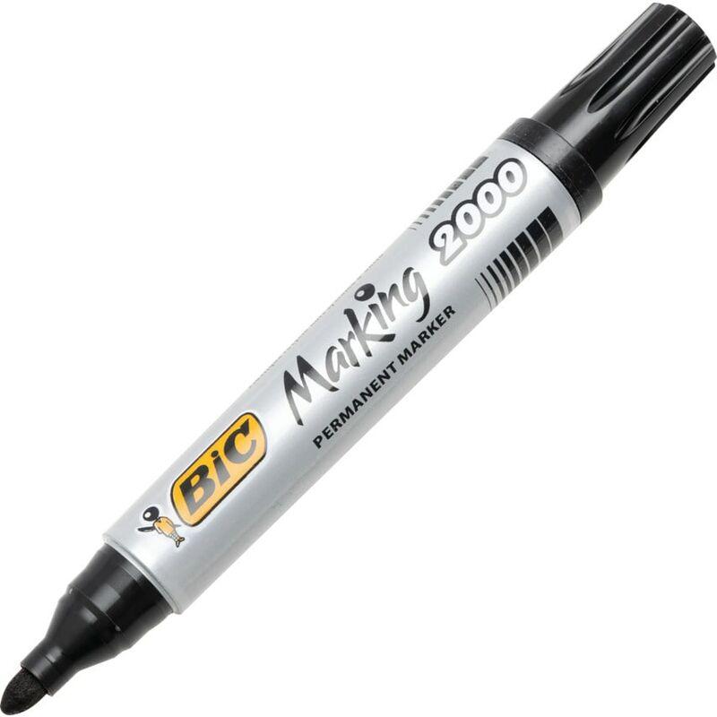Image of 2000 B/Tip Permanent Marker Black 820915 (12) - BIC