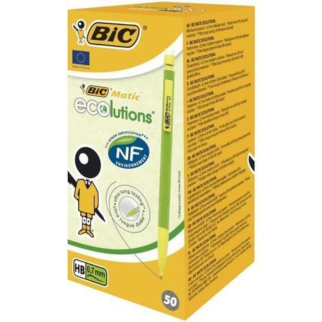 BIC Matic ECOlutions Porte-Mines 0.7 mm HB - Couleurs Assorties. Boîte de 50