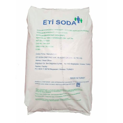 Bicarbonate de sodium 25 kg écologique d'origine naturel qualité premium.