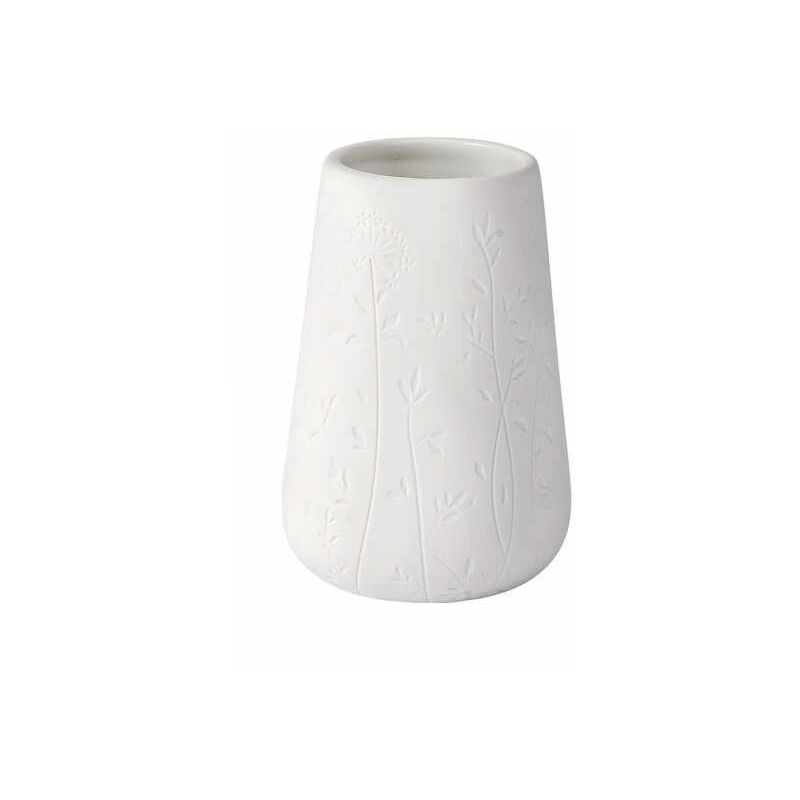 Wenko Ceramica beige. Bicchiere porta spazzolini 8 x 11 x 8 cm