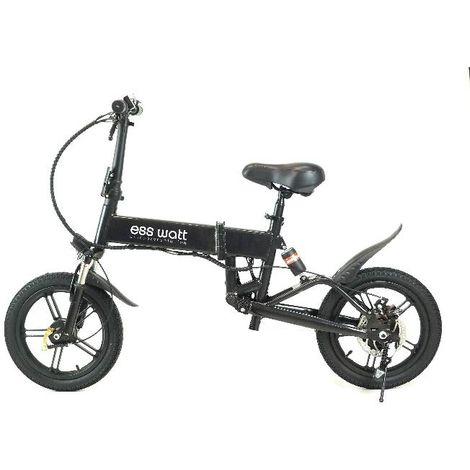 Bicicleta eléctrica plegable Miami negro Ess Watt