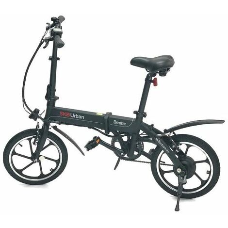 Bicicleta electrica SK8 Urban Beetle Negro