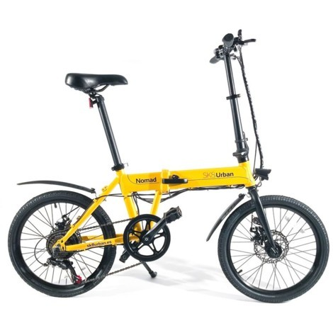 Bicicleta electrica SK8 Urban Nomad Amarillo