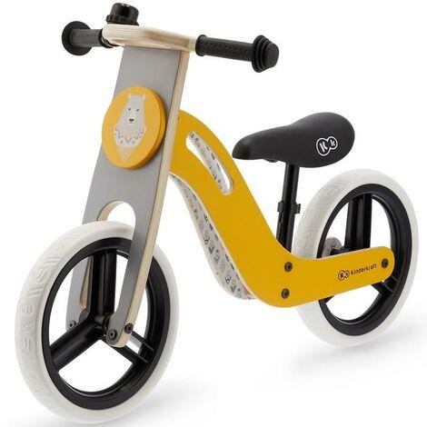 Bicicleta sin pedales color amarillo UNIQ Kinderkraft
