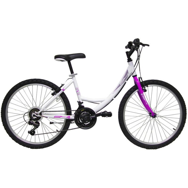 Bicicletta Mountain Bike Mtb Ragazza 24 18v Denver Bike Venere Bianca