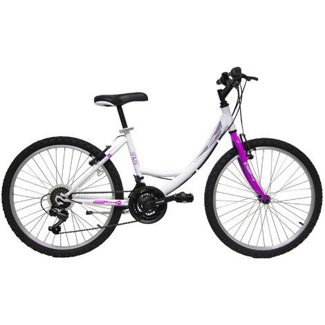 Bicicletta Mountain Bike Mtb Ragazza 24 18v Denver Bike Venere Bianca