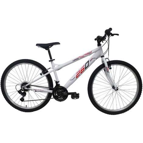 Bicicletta Mountain Bike Mtb Ragazza 26 18v Denver Bike Bianca
