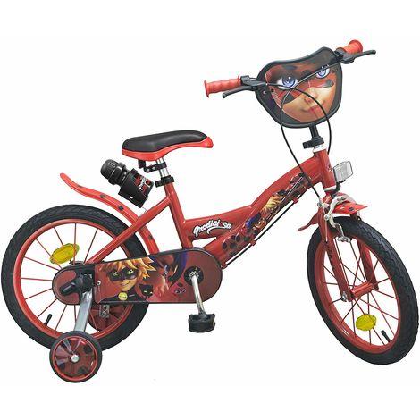 Bicicletta Per Bambini 16 Licenziata Prodigiosa Lady Bug E Borraccia 5 8 Anni