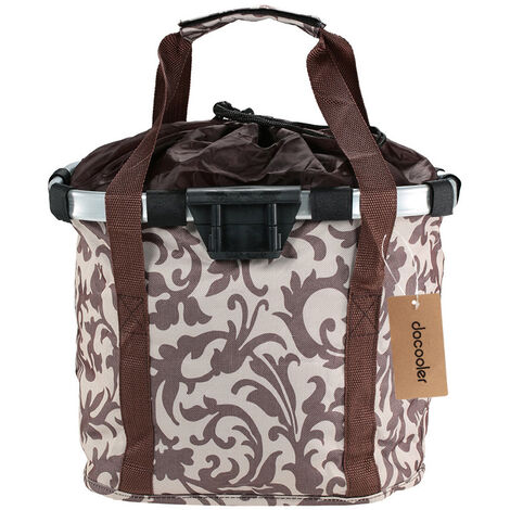 "main image of ""Bicycle Bike Detachable Cycle Front Canvas Basket Carrier Bag Pet Carrier Aluminum Alloy Frame,model:Khaki"""