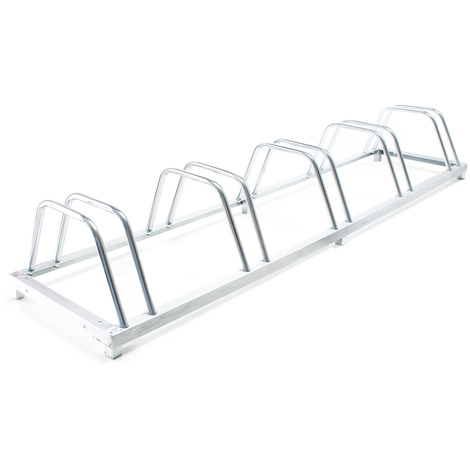 """Bicycle floor parking rack storage for 5 bicycles 62.2x15.3x9.8"""" (158x39x25cm) galvanised finish"""