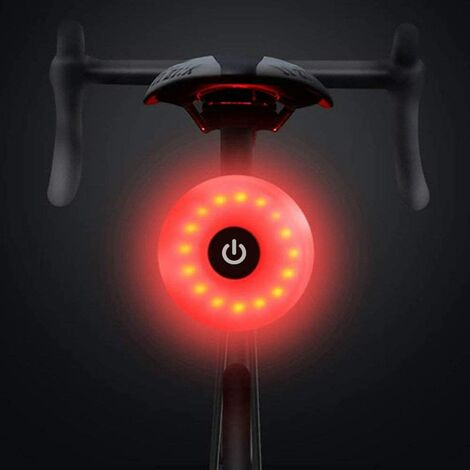 Bicycle Tail Light, Waterproof Warning LED Rechargeable USB 5 Modes Rear Light