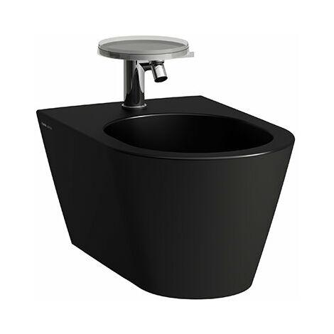 Bidé de pared Laufen Kartell, 1 agujero para grifo, 370x545x430, color: Negro Mate - H8303317163021