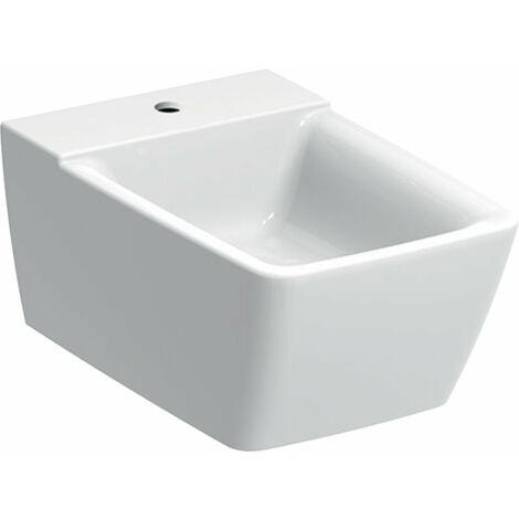 Bidé Geberit Xeno 2, sin rebosadero, de pared, blanco con KeraTect, 500501011 - 500.501.01.1