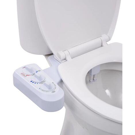 Bidet-Aufsatz für Toilettensitz Heiß-/Kaltwasser Doppeldüsen