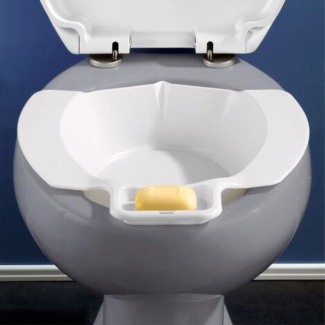 Bidet portable pour WC, bidet amovible avec porte savon, plastique, blanc WENKO