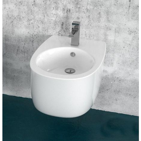 Bidet Sospeso In Ceramica 51,5x35,5x27cm Tft Street Bianco
