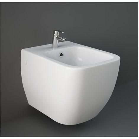 Bidet Sospeso Ceramica.Bidet Sospeso Rak Ceramiche Serie Metropolitan In Ceramica Bianco