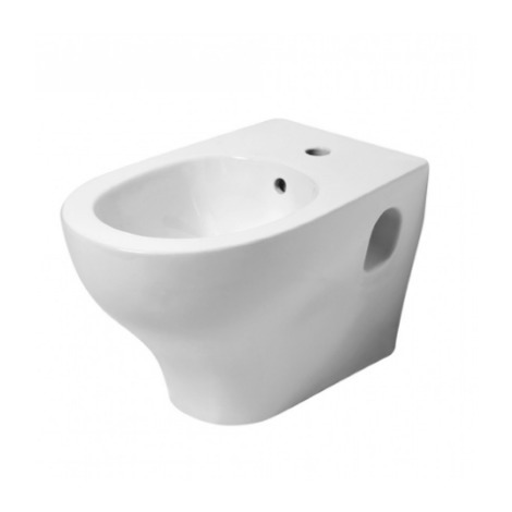 Bidet suspendido de ceramica 53 cm Pratica azzurra ceramica | Blanco