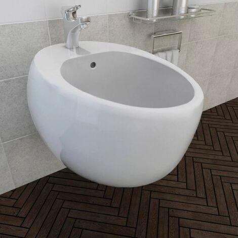 Bidet suspendu en céramique sanitaire blanc