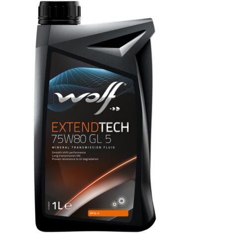 Bidon 1 litre d'huile 75W80 Wolf POLYGEARGL575W80W1