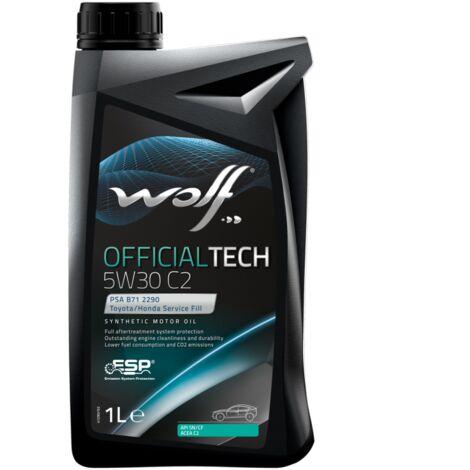 Bidon 1 litre d'huile moteur 5W30 WOLF OFFICIALTECH 5W30 C2 - 8308918