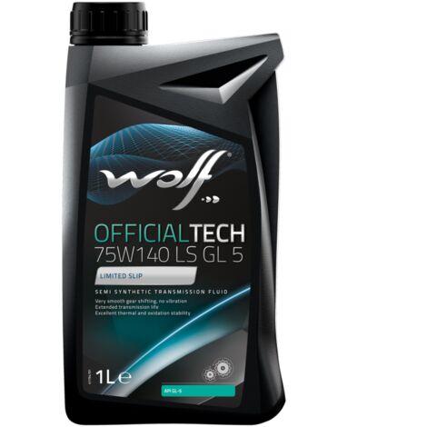 Bidon 1 litre d'huile Wolf GEAR OIL GL 5 LS SAE 75W140 8304200