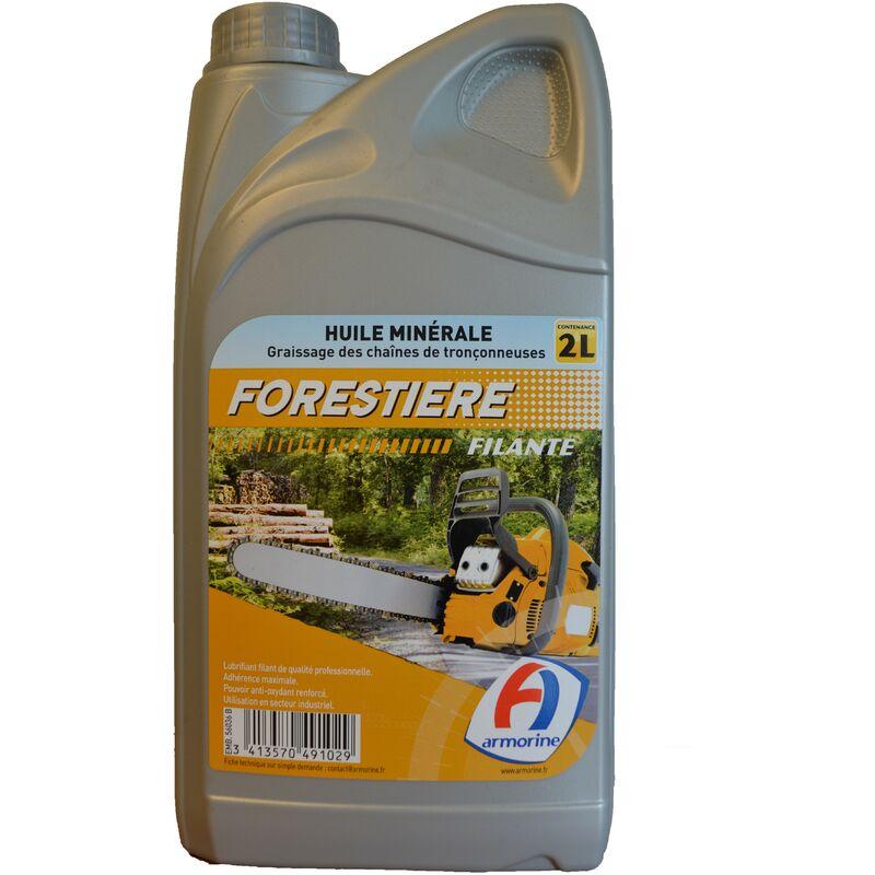 Bidon 2 litres huile chaine spéciale forestière 491 - Armorine