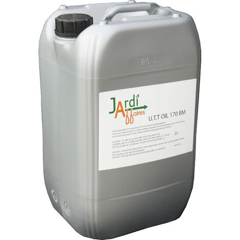 Bidon 20 litres huile transmission hydrostatique Jardiaffaires UTT Oil 170 BM