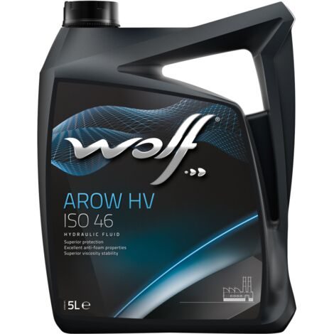 Bidon 5 litres d'huile paraffinique Wolf HYDRAULIC HV ISO 46 8306402