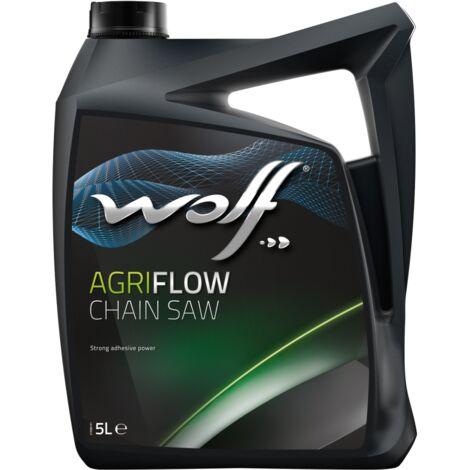 Bidon 5 litres d'huile pour scie à chaîne Wolf CHAIN SAW OIL EXTRA 8304811