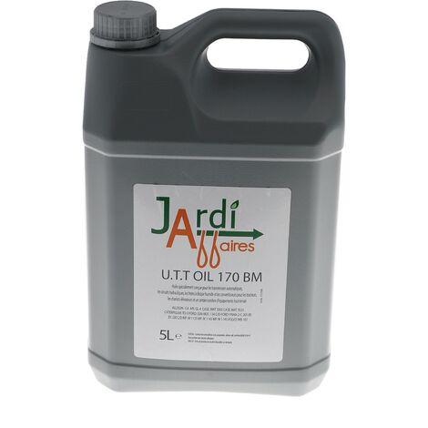 Bidon 5 litres huile transmission hydrostatique Jardiaffaires UTT Oil 170 BM
