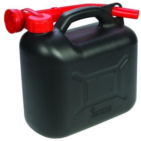 Bidon à carburant plastique 5 L Choix du modèle Noir