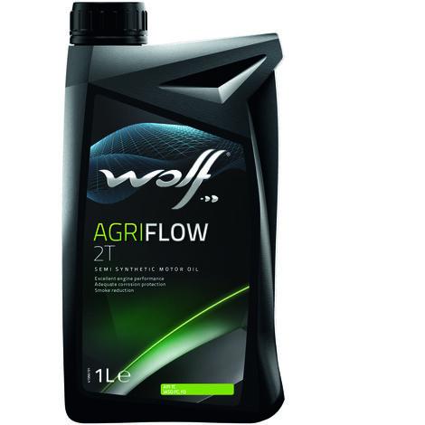 Bidon Agriflow 2T 1L Wolf 8327872 pour moteur 2 temps