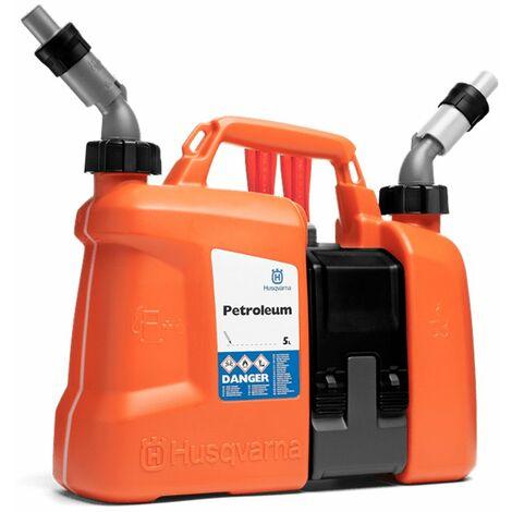 Bidón combi para combustibles y aceite 5 + 2,5 litros de Husqvarna