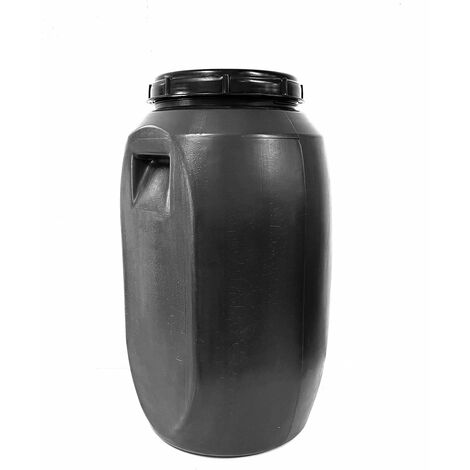Bidon de plastico con boca ancha de 60 litros - Cierre roscado