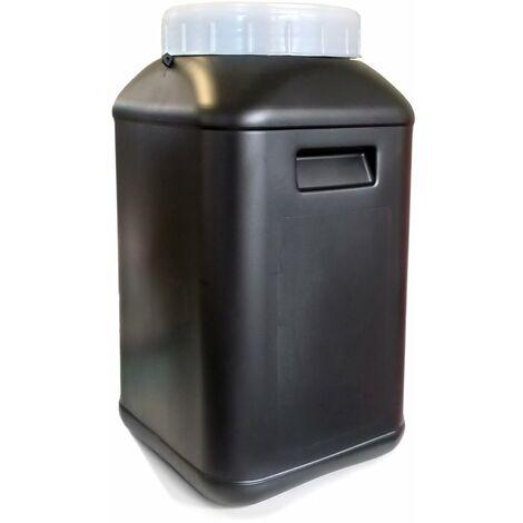 Bidón de plástico con boca ancha Gris de 30 litros - Raíz > Inicio > Almacenamiento, organización y protección > Bidones