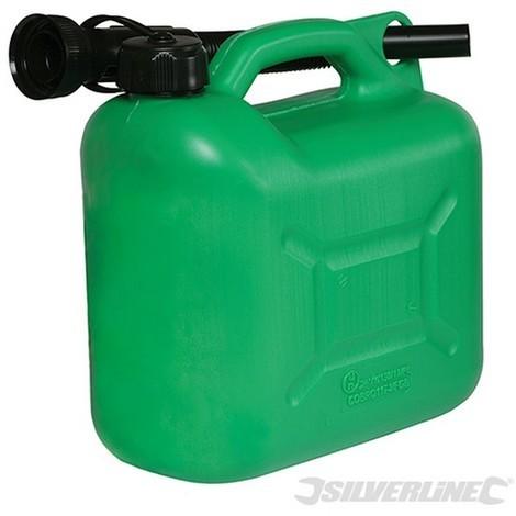 Bidón de plástico para combustible 5 litros (Verde)
