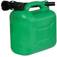 Bidón de plástico para combustible 5 litros Verde