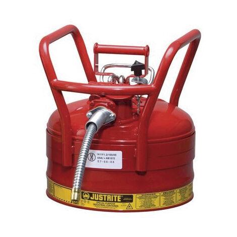 Bidón de seguridad de acero con manguera Tipo II para transporte