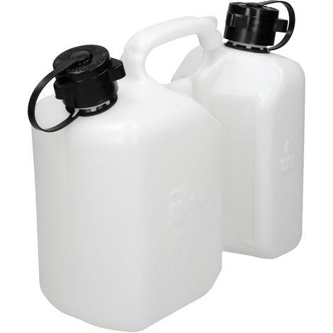 Bidon d'essence à chaîne double réservoir pour mélanger 3L essence 1,5L d'huilem