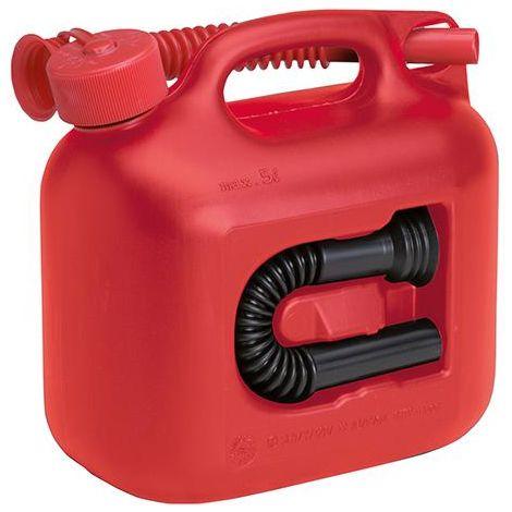 Bidon d'essence Premium plastique capacité nominale 5l rouge hünersdorff 1 PCS