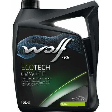 Bidon Ecotech 0W40 FE 5L Wolf 8320903
