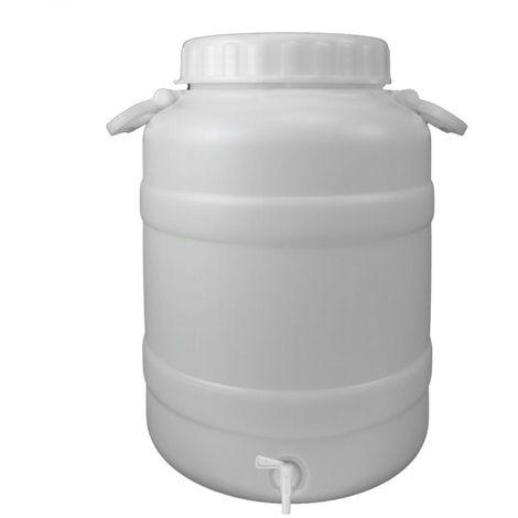 Bidon Garrafa Plastico Alimentario Con Grifo y Boca Ancha 30 Lt.